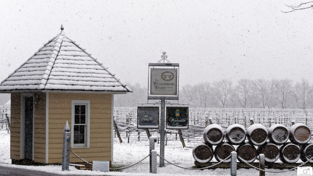 Snowy Day At The Williamsburg Winery - January 2016