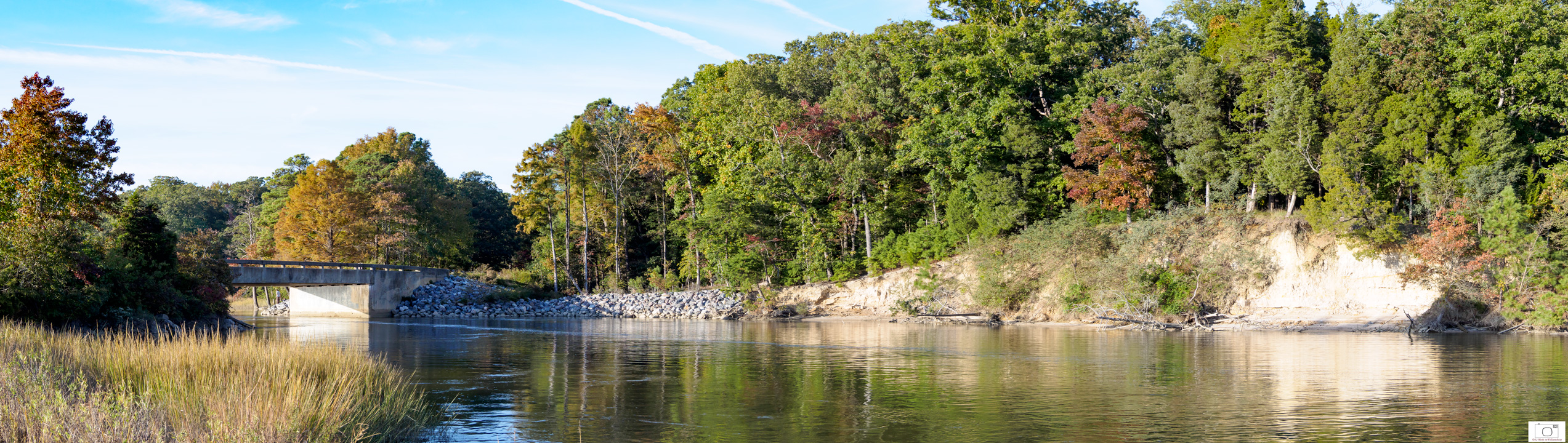 Fall Afternoon at College Creek Flowing Toward the Beach - October 2015