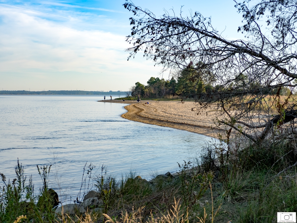 Looking toward the Thorofare (Back River) feeding into the James River from College Creek beach - October 2015
