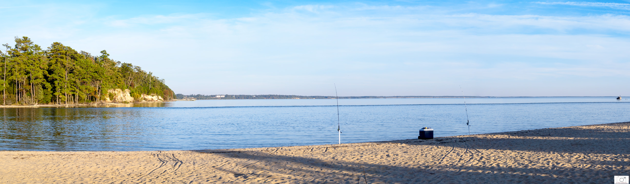 Fall Afternoon at College Creek Beach Looking at the Sandbar - October 2015